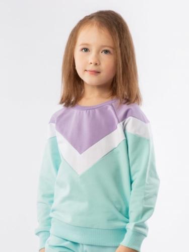 Джемпер для девочки, размер 92-98 мятный
