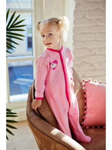 Комбинезон Lucky Child LOVE (арт. А6-101/розовый),размер 18 (56-62)
