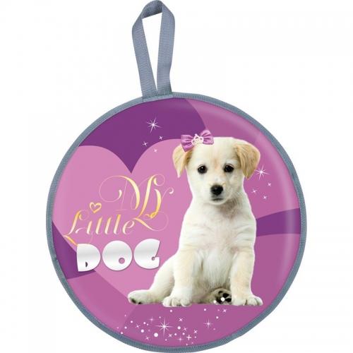 Ледянка Nika мягкая, диаметр 45 см рисунок Dog, цвет фиолетовый