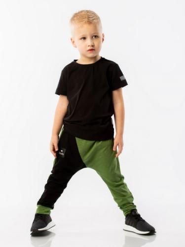 Брюки для мальчика зеленый/черный, размер (86-92) Bodo 6-110U