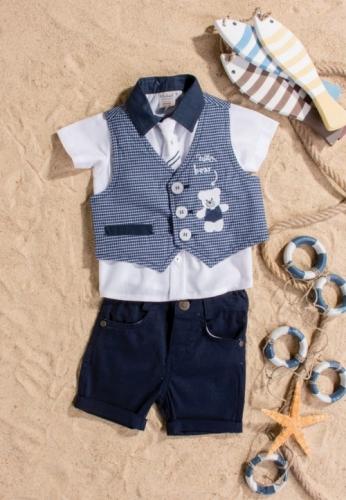Костюм для мальчика, размер 9 месяцев, темно-синий, Bebus