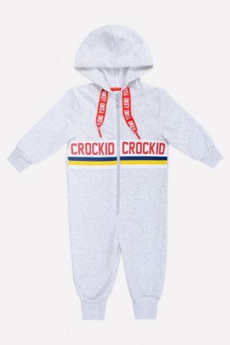 Комбинезон Сrockid светло-серый меланж, размер 140