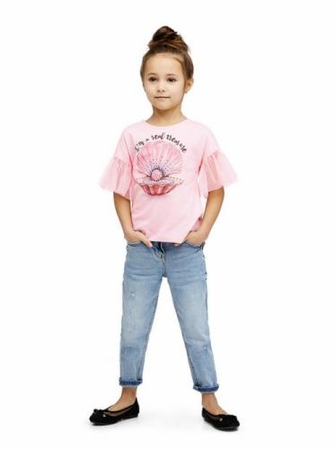 Футболка для девочки, размер 104-56, светло-розовый Белль Бимбо 190047