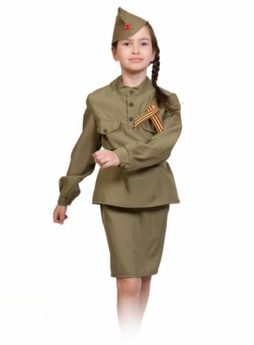 Карнавальный костюм Солдаточка, 10-12 года