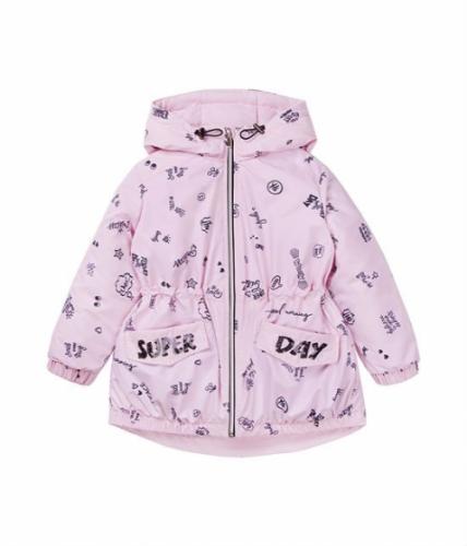 Куртка для девочки, размер 5 (110-60) демисезонная, сиреневая Bellbimbo 191176