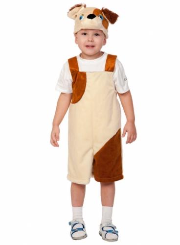 Карнавальный костюм Пёсик ткань-плюш (полукомбинезон, маска) 3-6 лет