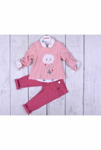 Комплект 3 предмета для девочки, размер 18 месяцев, розовый, Bebus