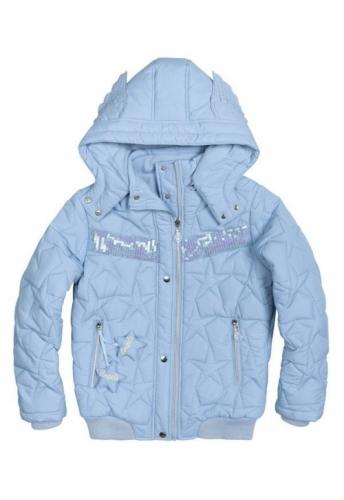 Куртка для девочек, размер 9, демисезонная, голубая Pelican GZWL484