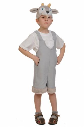 Карнавальный костюм Козлик ткань-плюш (полукомбинезон, маска) 3-6 лет