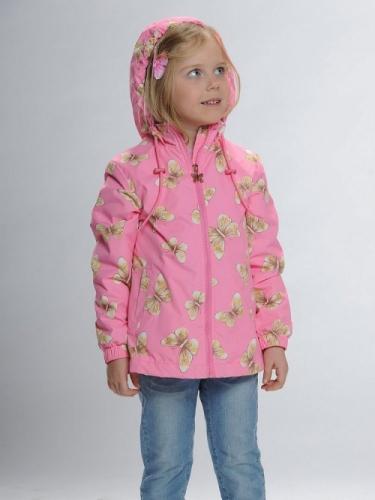 Ветровка для девочек, размер 5, розовая Pelican