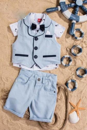 Костюм для мальчика, размер 9 месяцев, голубой, Bebus