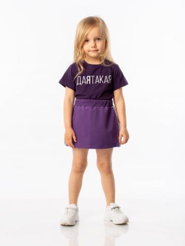 Футболка для девочки, размер 104-110, фиолетовый Bodo 4-114U