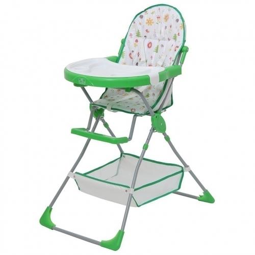 Стульчик для кормления Polini Kids 252 Лесные друзья Зеленый