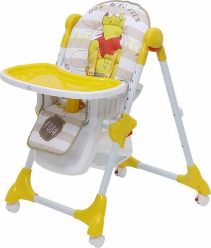 Стульчик для кормления Polini Disney Baby 470 Медвежонок Винни Чудесный день Желтый