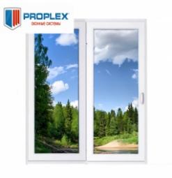 Окно раздвижное PROPLEX 2100x2000 двухстворчатое ПР1000/ЛГ1000 1 стеклопакет