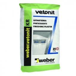 Шпатлевка Weber.Vetonit KR финишная для сухих помещений 25 кг