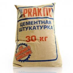Штукатурка Bergauf Praktik цементная для наружных работ 30 кг
