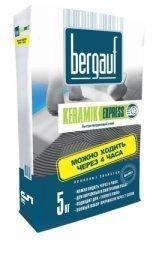 Клей Bergauf Keramik Express быстротвердеющий для плитки и керамогранита 5 кг