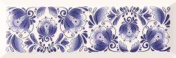 Декор Cracia Ceramica Metro Gzhel Decor 01 10x30