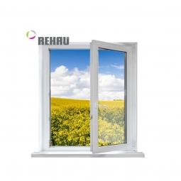 Окно ПВХ Rehau 600х600 мм одностворчатое ПО 3 стеклопакет