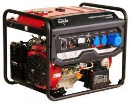 Генератор бензиновый Elitech СГБ 6500 Е 5000/5500 Вт ручной/электрический запуск