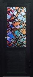 Дверное полотно Синержи Венеция Витраж венге