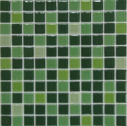 Растяжка Bonаparte Jump Green №1 (dark) зеленая глянцевая 30x30