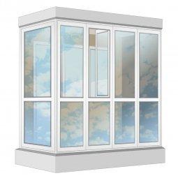 Остекление балкона ПВХ Exprof в пол с отделкой ПВХ-панелями без утепления 2.4 м Г-образное