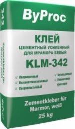 Клей ByProc KLМ-342 усиленный для мрамора 25 кг
