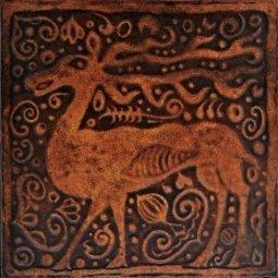 Плитка для пола Сокол Родос RDS411-1 коричневая матовая 33х33