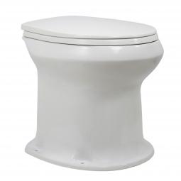 Унитаз Дачный Фарфор с сиденьем белый