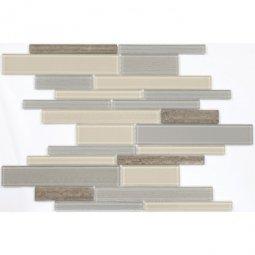 Мозаика Elada Mosaic N54 песочно-серый long size Crystal+Stone
