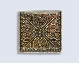 Декор Орнамент Универсальные вставки для пола Касабланка Gold 2 6.7x6.7