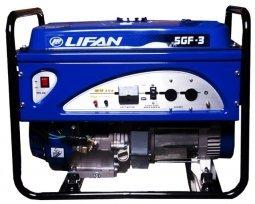 Генератор бензиновый Lifan 5GF-3 5000/5500 Вт ручной запуск