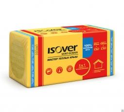 Минераловатный утеплитель Isover Мастер Теплых Крыш 1000х600х100 мм / 4 шт.