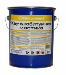 Мастика каучукобитумная Bitumast металлическое ведро 5л