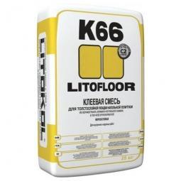 Клей Litokol LITOFLOOR K66 для укладки напольной плитки для наружных и внутренних работ 25 кг