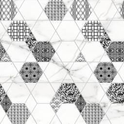 Декор Lasselsberger Каррарский мрамор гексагон 25х45 6046-0180