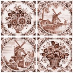 Декор Нефрит-керамика Акварель 04-03-1-14-03-15-136-2 20x20 Коричневый