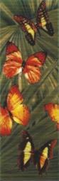 Бордюр Керамин Тропикана 4Б Тропические бабочки Зелёный 40x13,2