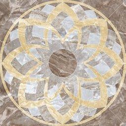 Панно Kerranova Premium marble полированный коричневый 120x120