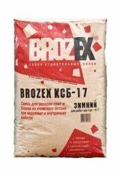 Клей для ячеистых блоков Brozex КСБ-17 Зимний 25 кг