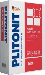 Клей для плитки Plitonit А для внутренних работ 5кг