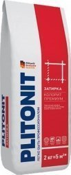 Затирка Plitonit Colorit Premium для швов до 15 мм усиленная армирующими волокнами светло-серая 2кг