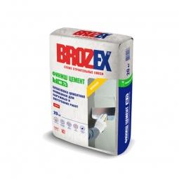 Шпатлевка Brozex Финиш Цемент WR-75 цементная белая 20 кг