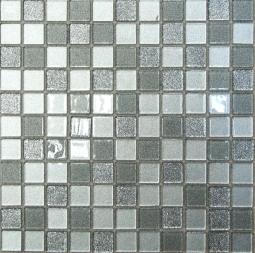 Мозаика Bonаparte Shine Silver серая глянцевая 30x30