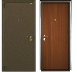 Стальная дверь Гардиан Фактор К медный антик/темный орех левая замок Г1211 + отверстие под 1001 980x2050 мм