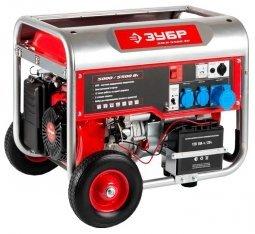 Генератор бензиновый ЗУБР ЗЭСБ-5500-ЭН 5000/5500 Вт ручной/электрический запуск