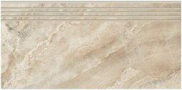 Ступени Kerranova Premium marble полированный бежево-серый 29.4x60