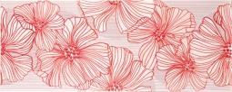 Декор Kerama Marazzi Челси C1457\7000 20х50 красный